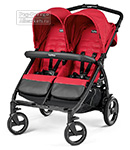 Коляска для двойни Peg-Perego Book For Two Mod Red
