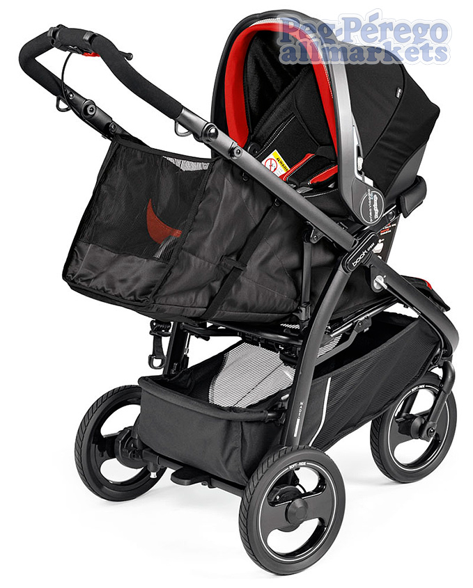 коляска 2 в 1 peg perego book cross modular system с автокреслом primo viaggio sl на блоке, вид спереди