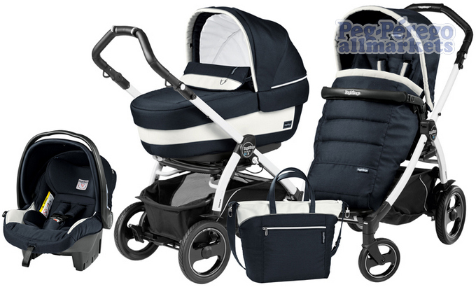 КОЛЯСКА PEG PEREGO BOOK 51 S ELITE MODULAR 3 В 1 LUXE BLUE