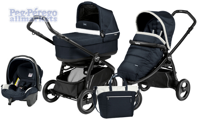 КОЛЯСКА PEG PEREGO BOOK SCOUT POP-UP MODULAR 3 В 1 LUXE BLUE