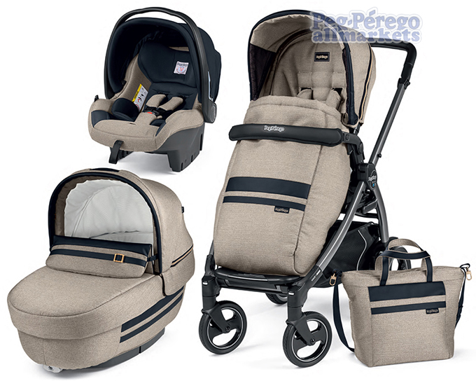 КОЛЯСКА PEG PEREGO BOOK 51 S ELITE MODULAR 3 В 1 LUXE ECRU