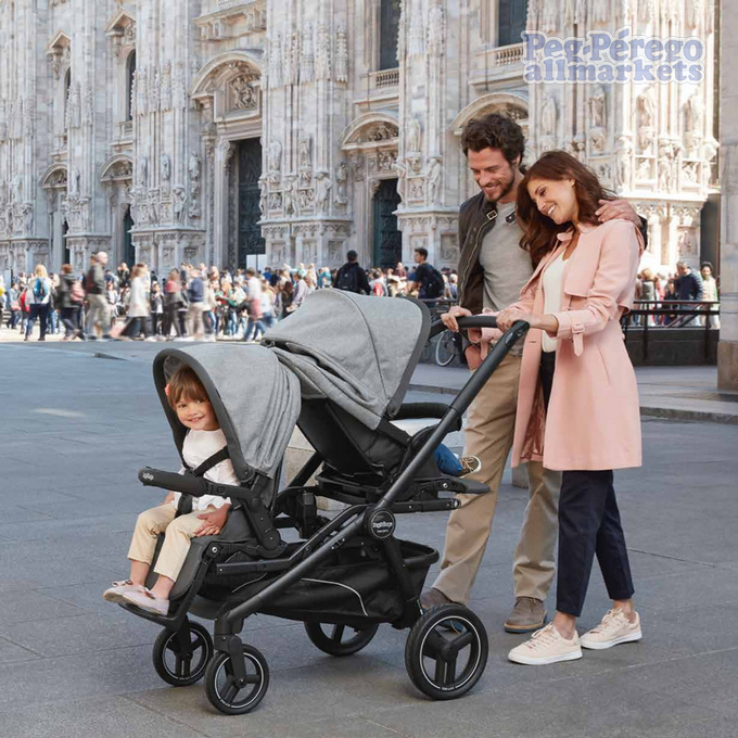 коляска peg perego team pop up modular 3 в 1 установка 2-х блоков
