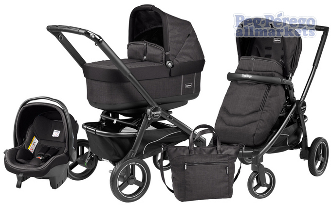 КОЛЯСКА PEG PEREGO TEAM POP-UP MODULAR 3 В 1 ONYX